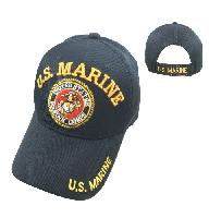 Licensed US Marine Hat [Seal] Black